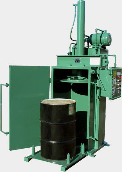 Drum crusher specialty industrial baler series